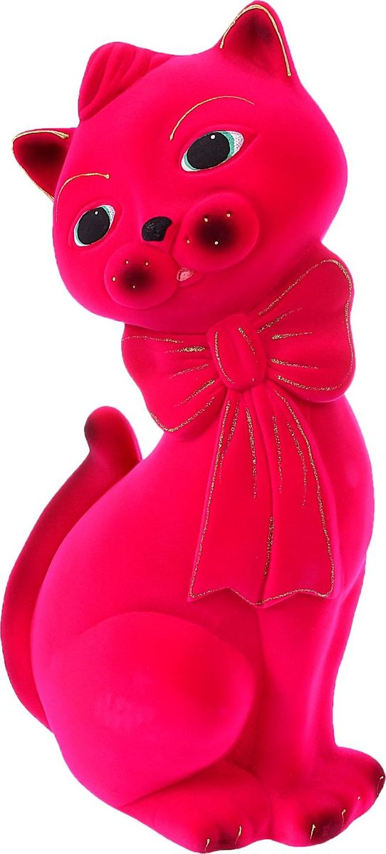 Копилка Керамика ручной работы Кот Джаспер, цвет: ярко-розовый, 14 х 23 х 43 см1082810Помните, как порой бывают необходимы не очень большие средства на какое-то нужное и важное дело, но они отсутствуют? Забудьте. В тот момент у вас не было копилки, которая помогла бы в сбережении денег. Изделие в виде котов поспособствует изгнанию злых духов из дома и защищает от сглаза. Кот символизирует домашний уют, тепло семейных отношений, психологический и эмоциональный комфорт.