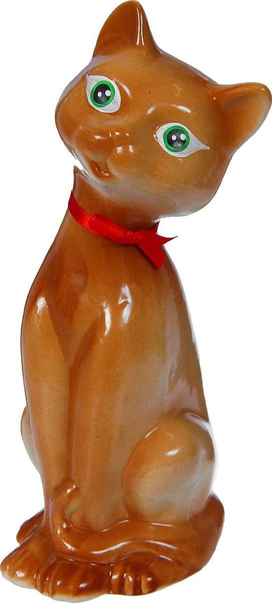 Копилка Керамика ручной работы Кошка, 13 х 9 х 27 см1319712Женщины любят баловать себя покупками для красоты и здоровья. С помощью такой копилки можно незаметно приблизиться к приобретению желаемого. Образ кошки всегда олицетворял привлекательность и символизировал домашнее спокойствие. Поставьте изделие возле предметов роскоши, и оно будет способствовать их преумножению.