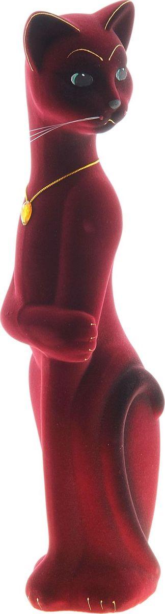 Копилка Керамика ручной работы Кот Лапа, цвет: бордовый, 10 х 10 х 45 см748661Помните, как порой бывают необходимы не очень большие средства на какое-то нужное и важное дело, но они отсутствуют? Забудьте. В тот момент у вас не было копилки, которая помогла бы в сбережении денег. Изделие в виде котов поспособствует изгнанию злых духов из дома и защищает от сглаза. Кот символизирует домашний уют, тепло семейных отношений, психологический и эмоциональный комфорт.Обращаем ваше внимание, что копилка является одноразовой.