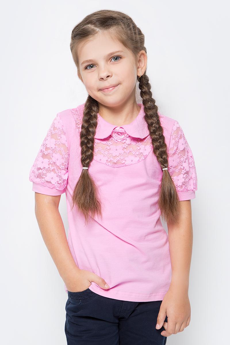 Блузка для девочки Nota Bene, цвет: розовый. CJR270441_5. Размер 140