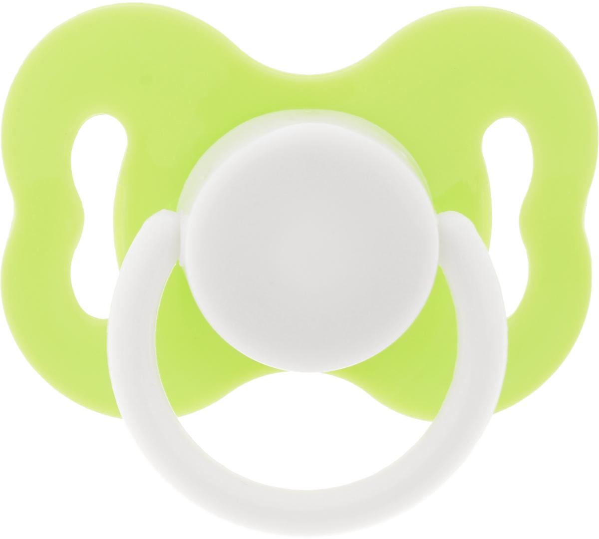 Lubby Пустышка латексная Круглая от 3 месяцев цвет салатовый