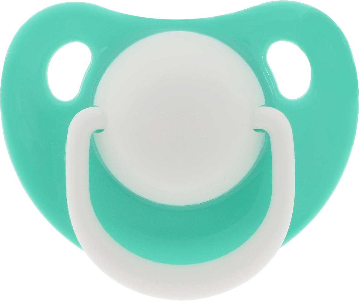 Lubby Пустышка силиконовая Классика от 6 месяцев цвет зеленый