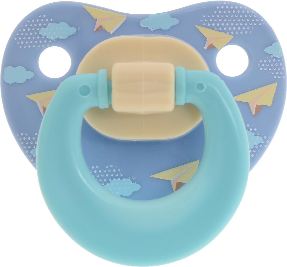 Мир детства Пустышка латексная классическая от 6 месяцев цвет голубой