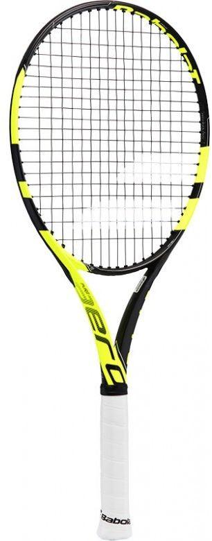 Теннисная ракетка BABOLAT PURE AERO SUPER LITE (Пьюр Аэро Супер Лайт), без натяжки, цвет: черный, желтый. Размер 1