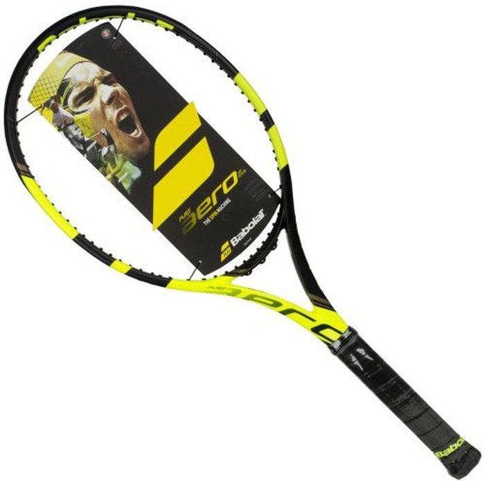 Теннисная ракетка BABOLATPURE AERO TEAM, без натяжки, без чехла, цвет: черный, желтый. Размер 3