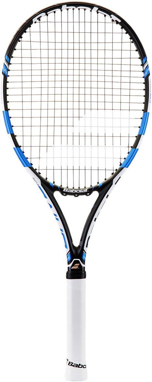 Теннисная ракетка BABOLAT PURE DRIVE SUPER LITE (Пьюр Драйв Супер Лайт), с натяжкой, цвет: черный, синий. Размер 1