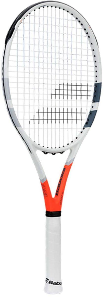 Теннисная ракетка BABOLAT STRIKE GAMER, с натяжкой, цвет: черный, красный, серый. Размер 2