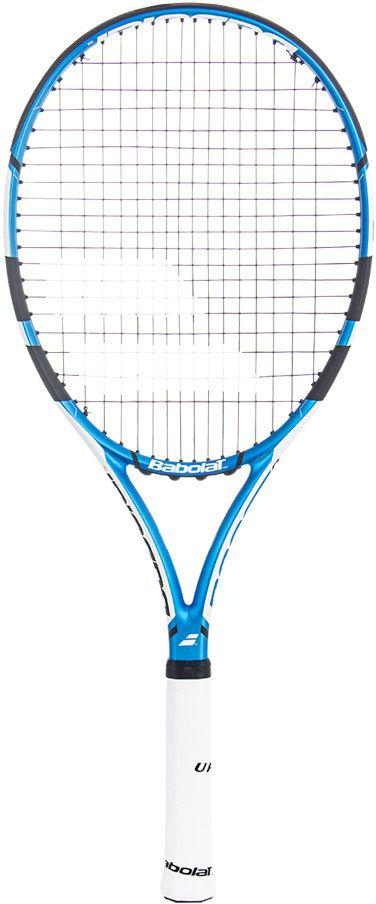 Теннисная ракетка BABOLAT BOOST DRIVE (Буст Драйв), с натяжкой, цвет: синий, белый. Размер 3