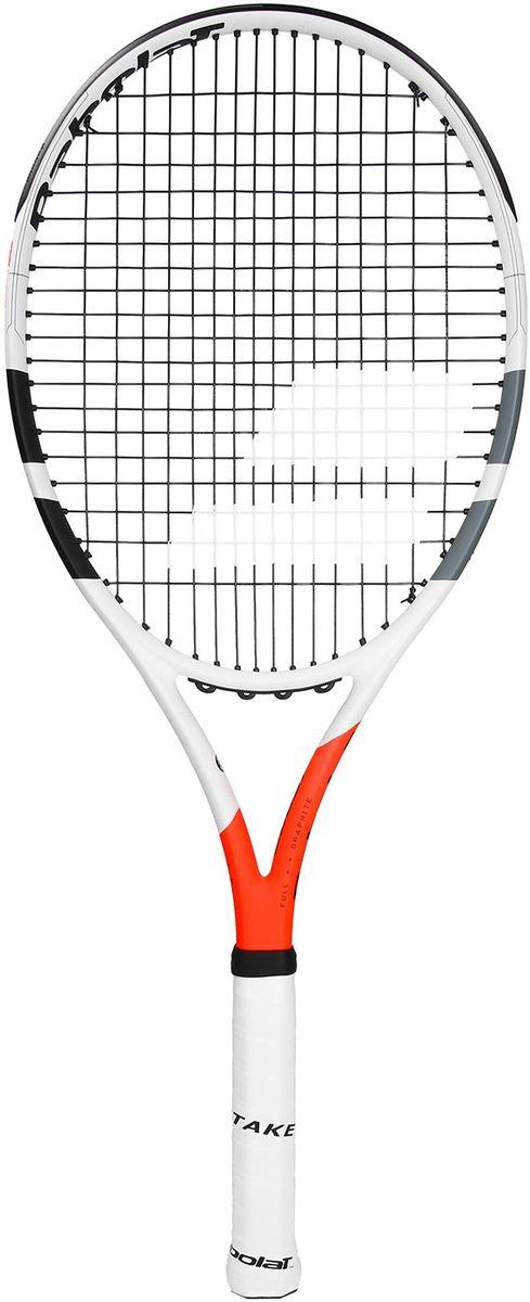 Теннисная ракетка BABOLAT BOOST STRIKE (Буст Страйк), с натяжкой, цвет: белый, красный. Размер 3
