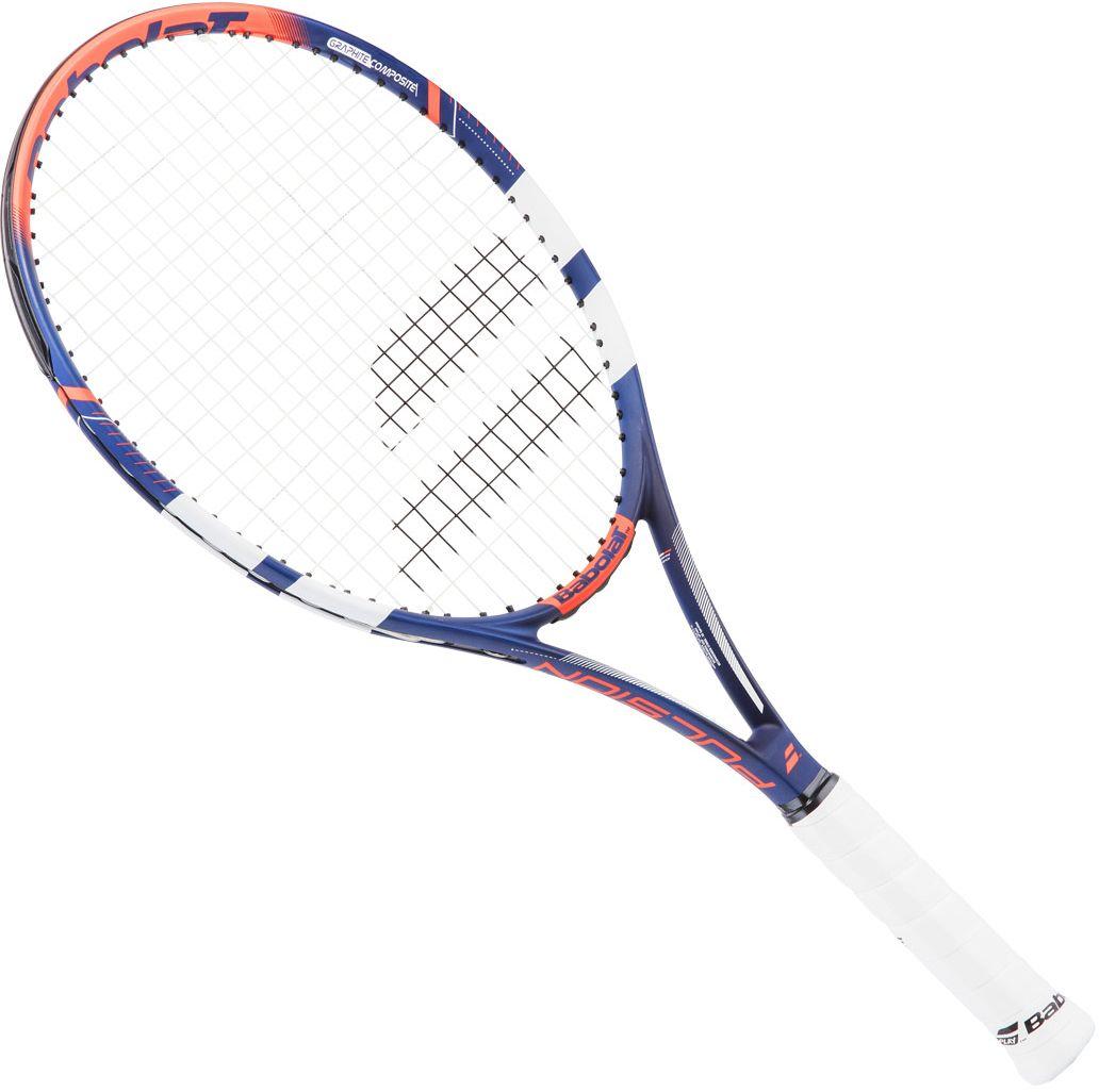 Теннисная ракетка BABOLAT Pulsion 102 (Палшин102), с натяжкой, цвет: синий, красный, черный. Размер 3