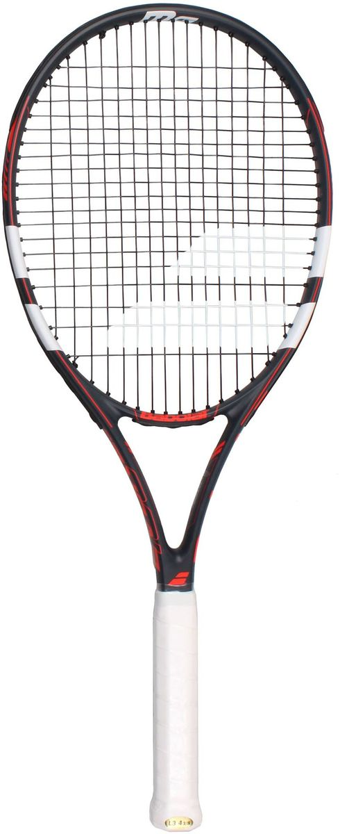 Теннисная ракетка BABOLAT EVOKE 105 (Эвоук 105), цвет: серый, красный. Размер 2