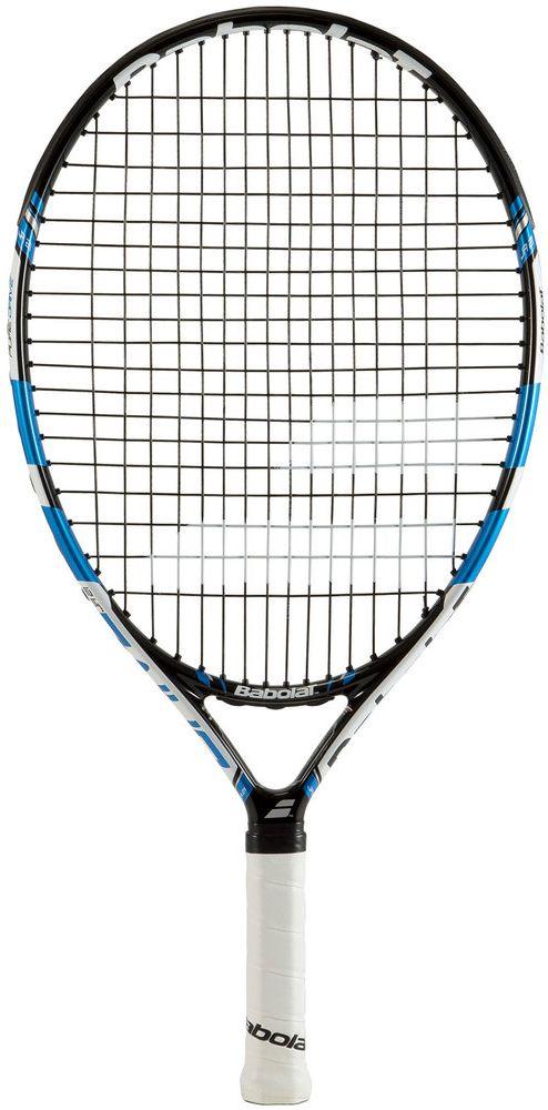 Теннисная ракетка BABOLAT PURE DRIVE JUNIOR 21 (Пьюр Драйв Джуниор 21), с натяжкой140163Размер головы: 610 см2/95 дДлина ракетки: 535 мм/21 дВес: 200 гБаланс: 255 ммСостав: графит / композитГрип: Syntec Pro