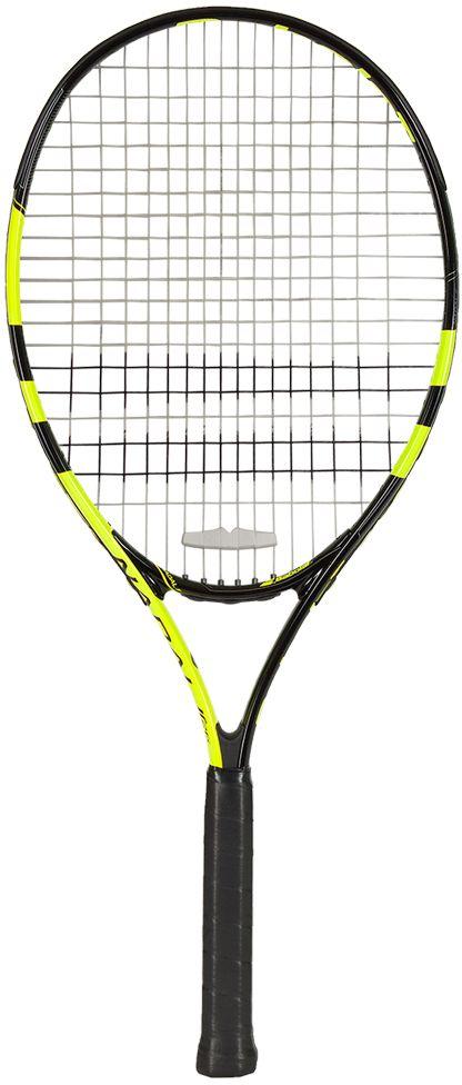 Теннисная ракетка BABOLAT NADAL Junior 26 (Надаль Джуниор 26), цвет: черно-желтый. Размер 0140179Размер головы: 680 см2/105 дДлина ракетки: 660 мм/Вес: 245 гСостав: алюминий