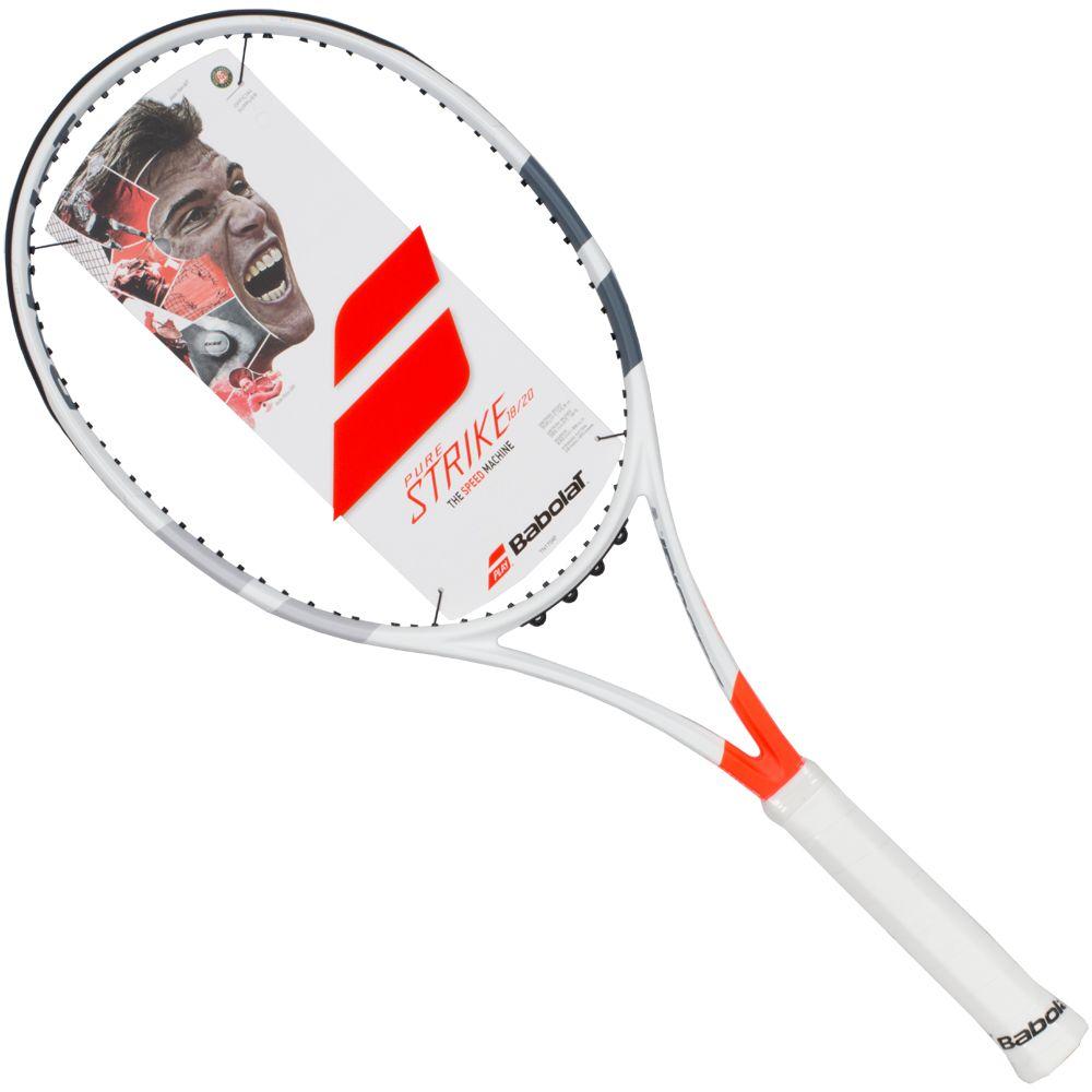 Теннисная ракетка BABOLAT Pure Strike Junior 26 (пьюр Страйк Джуниор 26), с натяжкой, цвет: белый, красный. Размер 1
