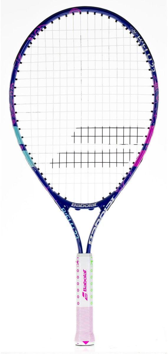 Теннисная ракетка BABOLAT BFLY 23 (Би Флай 23), цвет: бело-розовый140202Длина ракетки: 584 мм/Длина грипа: 165 мм/Возраст: от 7 до 9 летВес:Состав: алюминий