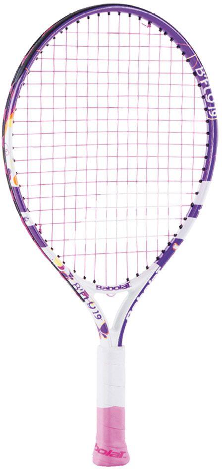 Теннисная ракетка BABOLAT BFLY 19 (Би Флай 19), цвет: розовый140204Длина ракетки: 483 мм/Длина грипа: 130 мм/Возраст: до 5 летВес:Состав: алюминий