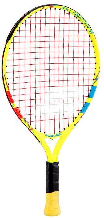 Теннисная ракетка BABOLAT BALLFIGHTER 19 (Болфайтер 19), цвет: желтый, синий, красный