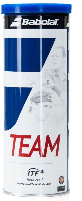 Мяч теннисный Babolat Team, 3 шт501041Теннисные мячи Team изготовлены из высококачественных полимерных материалов. Сукно Extra Feel Feltобеспечивает отличное чувство мяча. В комплект входят 3 мяча.