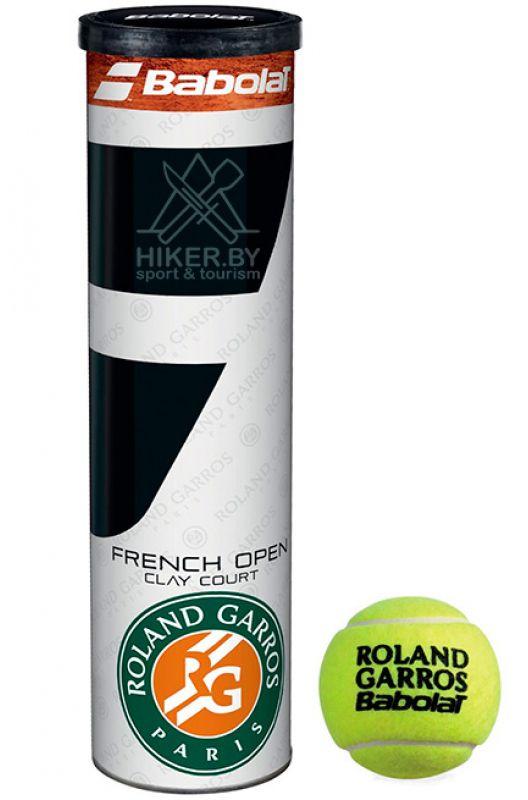 Мяч теннисный Babolat French Open, 4 шт502034Мяч теннисный Babolat French Openизготовлен из высокачесвтеных полимерных материалов.Мяч сочетает потрясающий отскок, износостойкость и комфорт при игре. French Open - официальный мяч турнира большого шлема Roland Garros. В комплект входит 4 мяча.