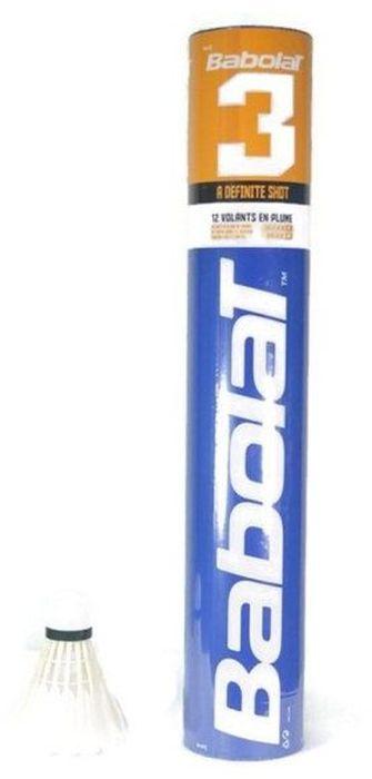 Волан бадминтонный Babolat, перьевой. 551021551021Волан для бадминтона Babolat соединяет в себе точность, скорость и долговечность. Волан предсназначен для клубного игрока. Особенности: Материал: перо уткиДвухслойная пробка. В комплект входит 12 воланов.