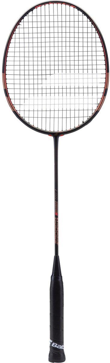 Ракетка для бадминтона Babolat Xfeel Blast, с натяжкой ракетка для бадминтона ласточка 3