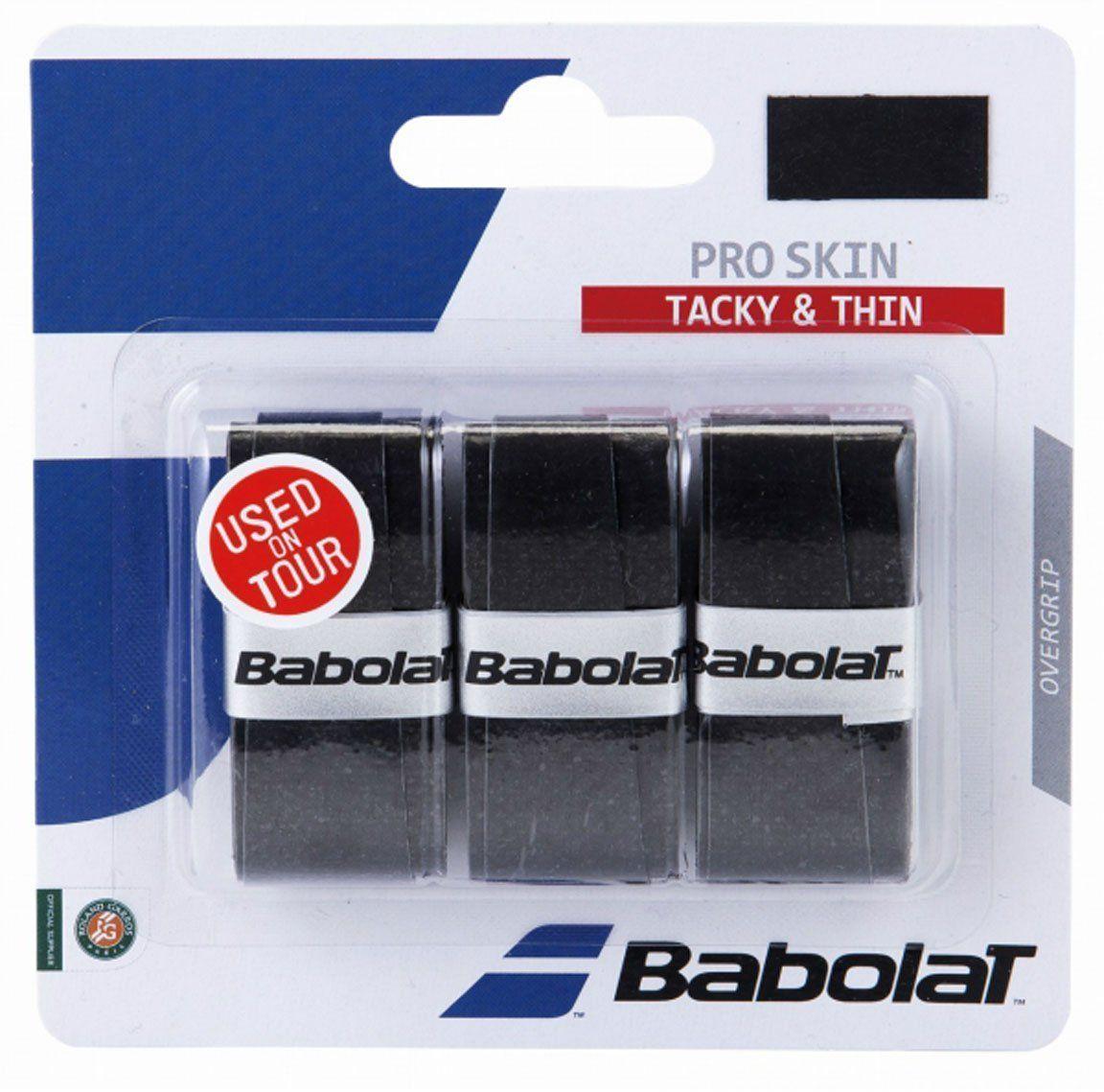 Овергрип Babolat Pro Skin X3, цвет: черный653036Овергрип Babolat Pro Skin X3 изготовлен из полимерных материалов с липкой поверхностью. Уникальная технология поглощения влаги (220%), делает материал мягким и сухим , независимо от степени влажности рук.В комплект входят 3 овергрипа.