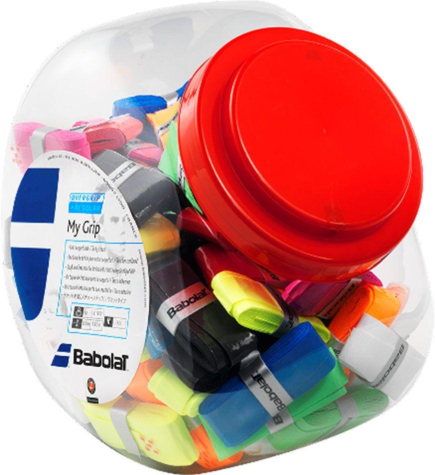 Овергрип Babolat My Grip, 70 шт656006Овергрип Babolat My Grip изготовлен из полимерных материалов с липкой поверхностью.Особенности: Отличное влагопоглощениеДолговечность, устойчивость к истиранию.В комплект входят 70 овергрипов с 9 разными цветами: черный, голубой, оранжевый, розовый, красный, темно-синий, белый, желтый, зеленый.Толщина: 0,60 мм