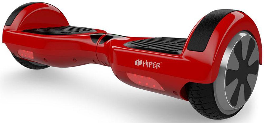 """Гироскутер Hiper ES65 6.5, цвет: красныйES65REDГироскутер Hiper ES65 6.5 имеет цельнолитые колеса диаметром 6.5"""", способен двигаться по поверхности, находящейся под углом 17 градусов и снабжен двумя мощными моторами и алюминиевой рамой. Минимально допустимый вес пользователя скутера составляет 20 килограмм, максимальный 120 килограмм. Запас хода 20 км, а время заряда около 2 часов."""
