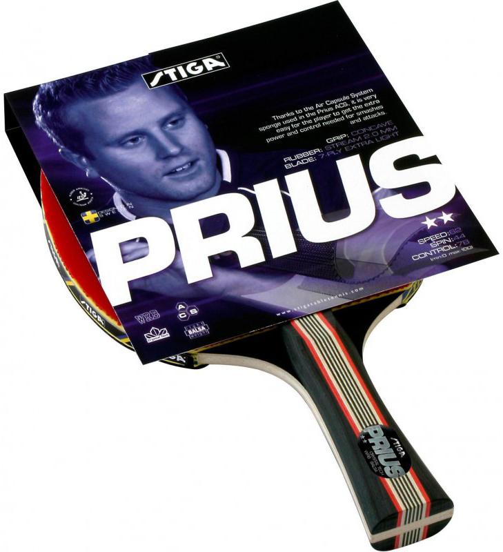 Ракетка для настольного тенниса Stiga Prius Crystal, цвет: красный ракетка для настольного тенниса stiga 7 6 13 7 6 stiga crbon 7 6