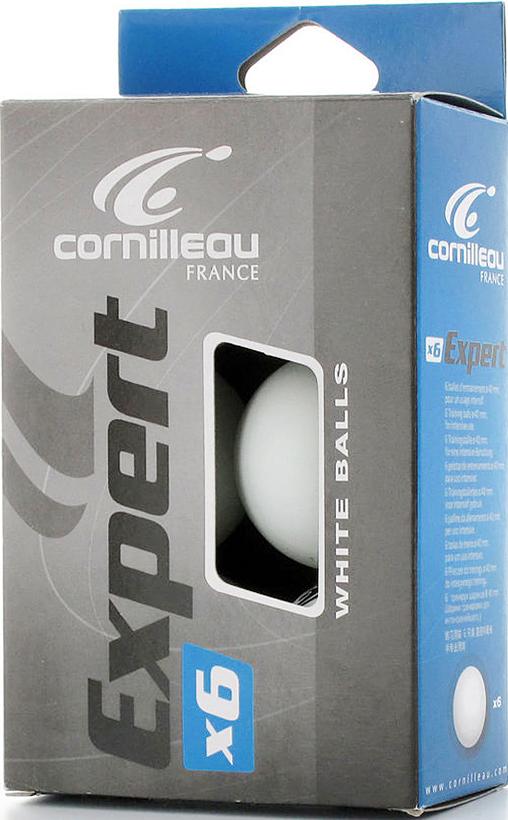 Мяч для пинг-понга Cornilleau Expert, цвет: белый, 40 мм, 6 шт330500Высококачественные тренировочные мячи Cornilleau Expert - 2-Звезда. Выполнены из целлулоида.Диаметр: 40 мм.В наборе 6 мячей.