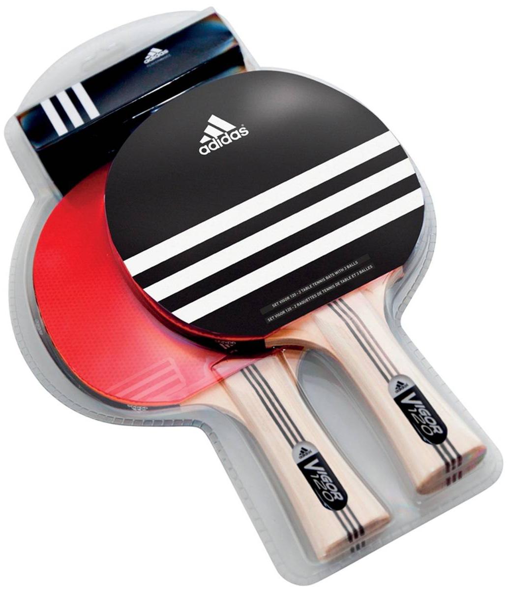 Набор для настольного тенниса Adidas Vigor 140AGF-12458В состав набора входит 2 ракетки + 3 мяча