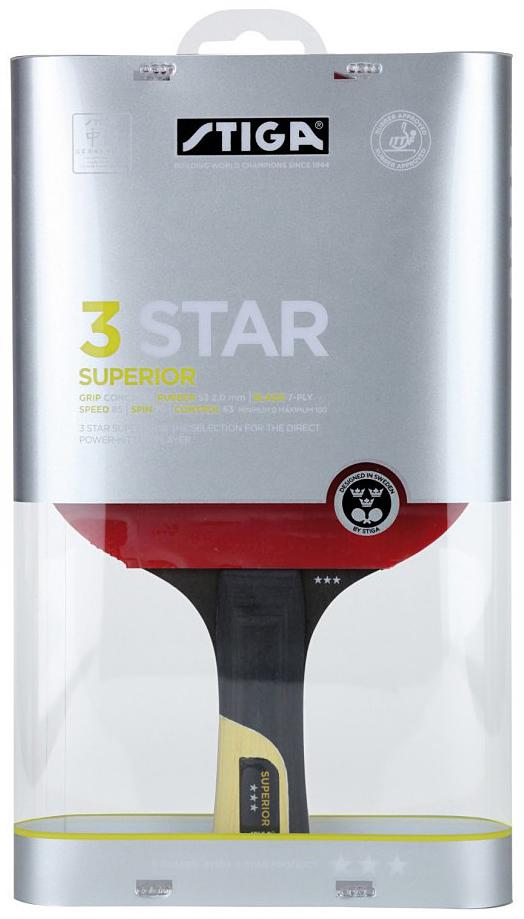 Ракетка для настольного тенниса Stiga Superior WRB, цвет: красный ракетка для настольного тенниса stiga loop advance wrb