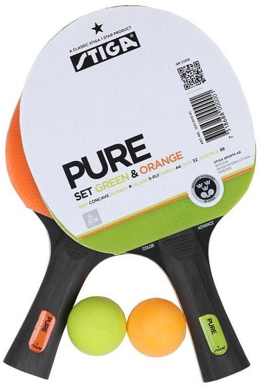 Набор для настольного тенниса Stiga Pure, 4 предмета1221-0113-01Набор Pure, состоящий из 2 цветных, красочных ракеток и 2 мячей, - превосходный выбор для сильного игрока, который хочет непревзойденных уровней силы и чувства игры. Выберите ваш цвет и исследуйте возможности мира настольного тенниса Stiga.
