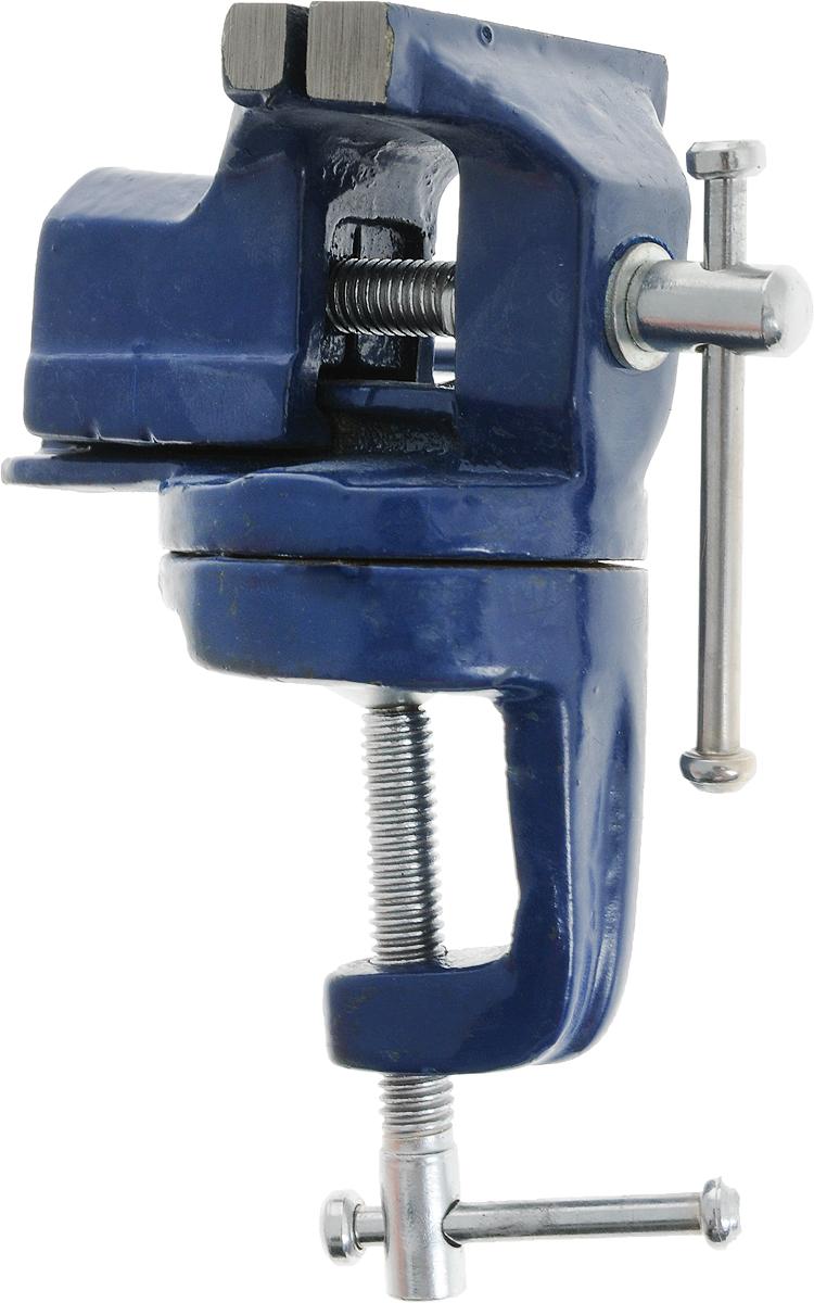 Тиски настольные Vorel, поворотные, цвет: синий, 60 мм36016_синийТиски Vorel, выполненные из чугуна,служат для того, чтобы мастеру было удобно обрабатывать объект, предварительно зажав его, чтобы он не двигался в процессе работы. Крепятся тиски на рабочем столе (или как его еще называют верстаке) с помощью мощных болтов. Тяги, винт и челюсти закаленные. Поворотный круг дает пользователям возможность быстро и легко изменять положение заготовки без надобности переставлять тиски.