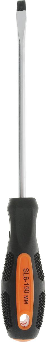 Отвертка Вихрь, для шлицевых гаек, SL6 х 150 мм73/6/2/10Отвертка Вихрь с эргономичной двухкомпонентной ручкой предназначена для монтажа и демонтажа резьбовых соединений. Простота и удобство отвертки сочетается с высоким качеством и прочностью стержня. Она превосходно справляется с любыми нагрузками, прекрасно подойдет как для профессионального использования, так и для решения бытовых задач. Наконечник намагничен, чтобы облегчить работу с мелкими деталями. Инструмент выполнен в уникальном дизайне и обладает неповторимой формой, идеально подходящей для любого типа кисти. Эргономичная ручка не только удобно лежит в руке, но еще и обеспечивает высокий крутящий момент, а антискользящее покрытие помогает крепко удерживать инструмент в любых рабочих условиях. Рукоятка отвертки оснащена дополнительным отверстием, используемое для воротка в случае, если необходимо приложить дополнительные усилия.Длина стержня: 15 см.Общая длина отвертки: 26 см.