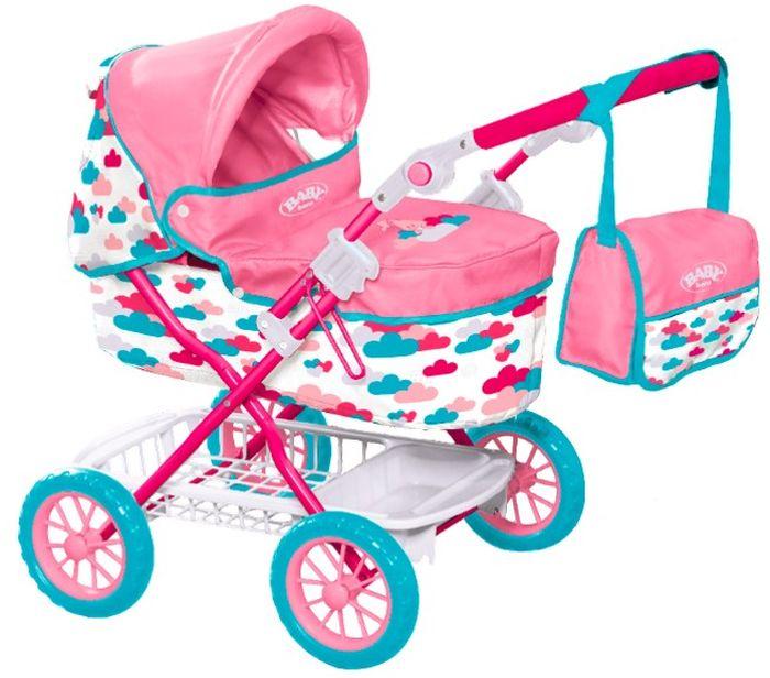 Zapf Creation Коляска для кукол с сумкой Делюкс Baby Born аксессуары для кукол zapf игрушка baby annabell памперсы