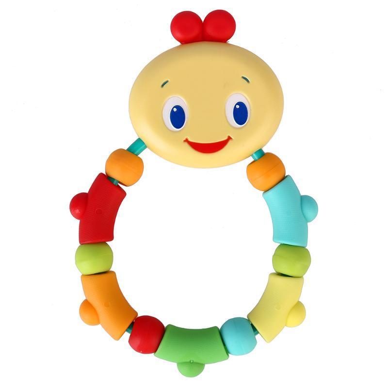 Bright Starts Развивающая игрушка - прорезыватель Гусеничка цвет оранжевый прорезыватель bright starts гусеничка кольцо