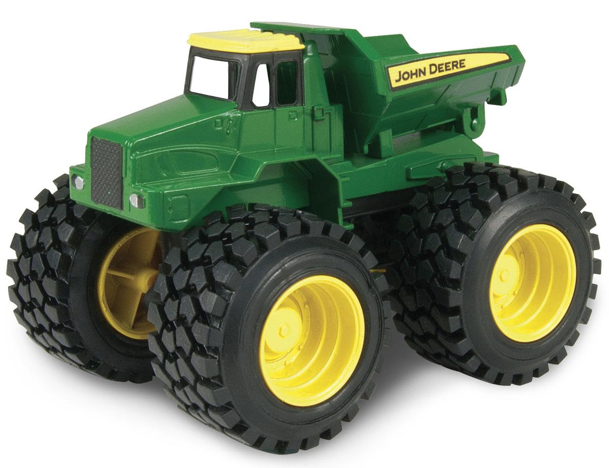 Tomy Машинка Самосвал с большими колесами с вибрацией и звуком трактор tomy john deere зеленый 19 см с большими колесами звук свет