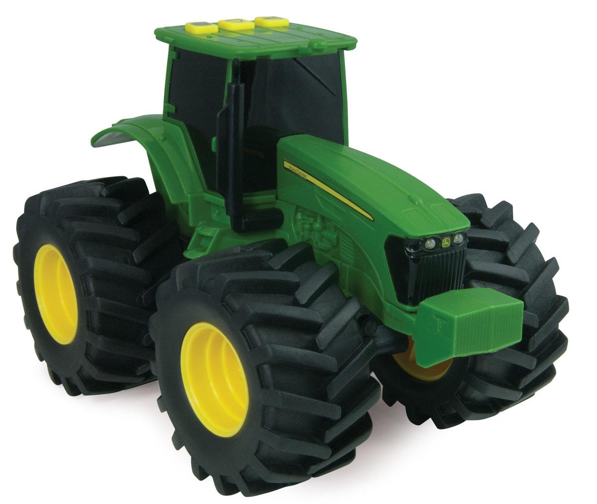 Tomy Машинка Трактор с большими колесами с подсветкой и звуком машины tomy трактор john deere monster treads с большими резиновыми колесами