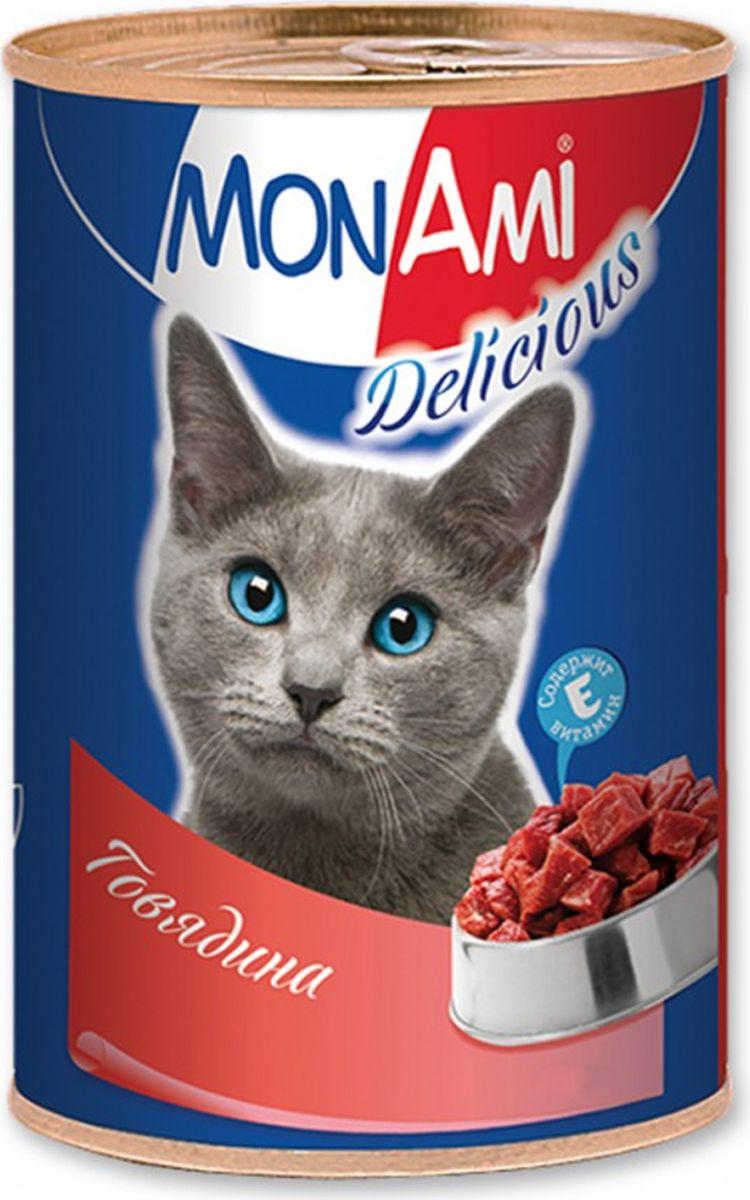 Консервы для кошек MonAmi, с говядиной, 350 г комплексная пищевая добавка парфэ красителипищевыесухие 30г