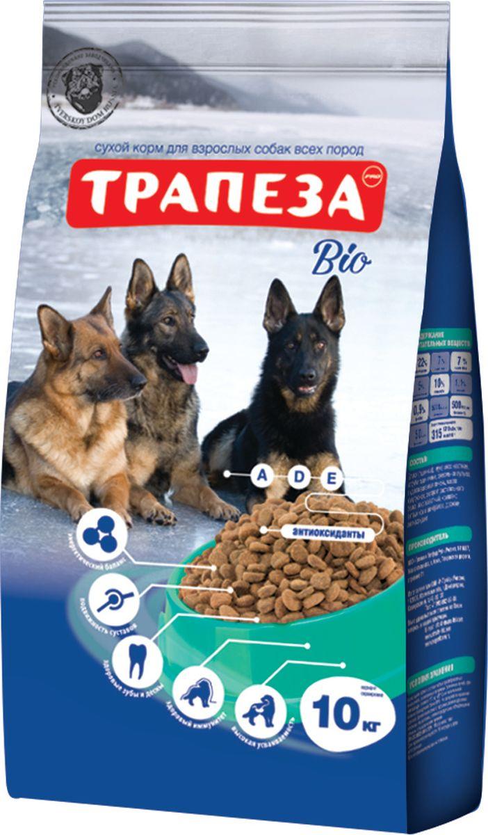 Корм сухой Трапеза Био для взрослых собак всех пород, 10 кг201003073Сухой корм Трапеза Био - сбалансированный сухой корм для взрослых собак с нормальной активностью. Разработан с использованием уникальной формулы, которая предусматривает сочетание питательных веществ в правильной пропорции белков, жиров, клетчатки, витаминного и минерального комплекса для собак с нормальной активностью. Сухой корм для собак Трапеза Био при постоянном применении обеспечивает полноценное питание для собак с нормальной активностью на протяжении всей жизни питомца.Специальная форма гранул — разработана с учетом строения челюстей взрослой собаки и позволяет животному в полной мере насладиться своим завтраком, обедом или ужином и не чувствовать после еды дискомфорт в желудке, а так же избежать проблем с пищеварением.Состав: злаки, пшеничные отруби, мясо и продукты животного происхождения (в той частноти говяжья печень), экстракт белка растительного происхождения, гидролизированная печень, минеральные добавки, подсолнечное масло, пульпа сахарной свеклы (жом), витамины, антиоксидант.Анализ: протеин – 22%; жир – 7%; зола – 7%; клетчатка – 5%; влажность – 10%; кальций – 1,1%; фосфор – 0,9%; витамин А 5000 МЕ/кг; витамин D3 500 МЕ/кг; витамин Е 50 мг/кг.Товар сертифицирован.