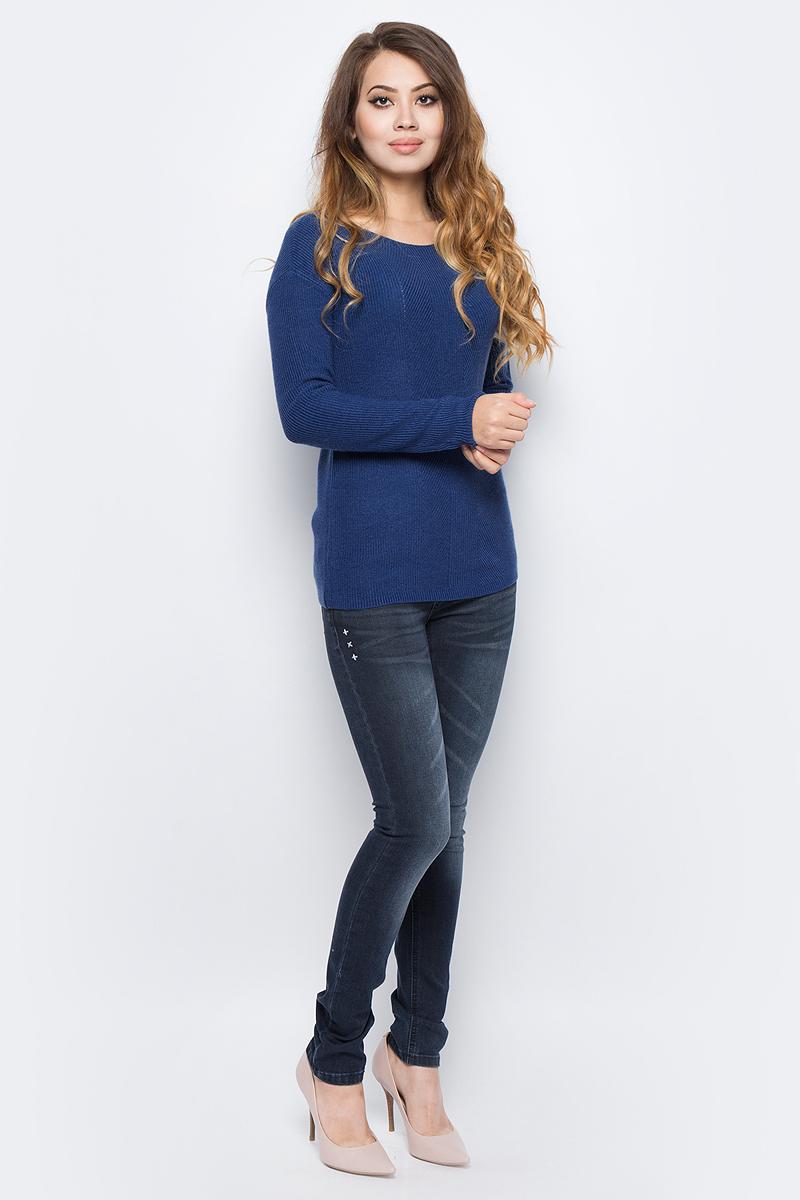 Джемпер женский Sela, цвет: серая лаванда меланж. JR-114/1251-7321. Размер XS (42) sela se001ebotd99