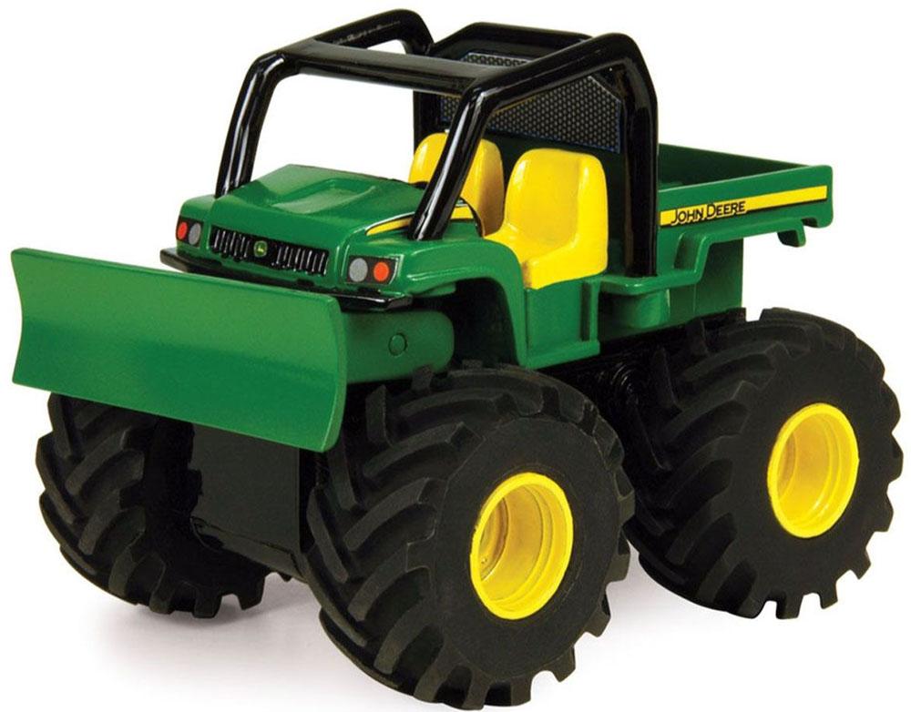 Tomy Бульдозер реверсивный John Deere трактор tomy john deere зеленый 19 см с большими колесами звук свет