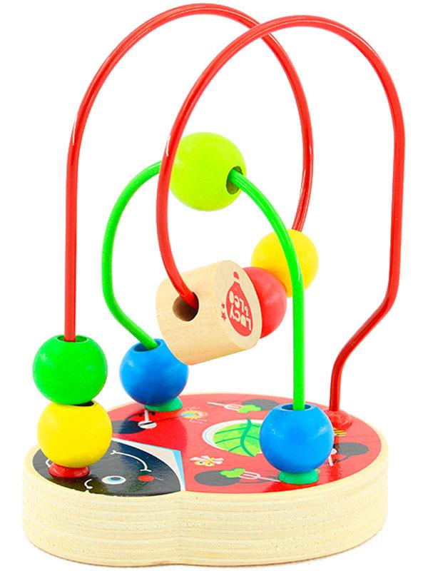 Игрушки из дерева Лабиринт Божья коровка конструкторы игрушки из дерева трамвай