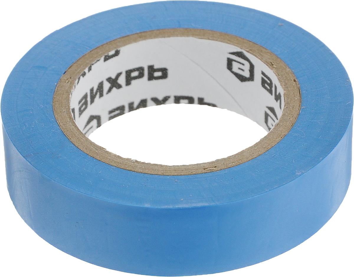 Лента изоляционная Вихрь, цвет: синий, 10 м х 15 мм73/3/3/2Изоляционная лента Вихрь - изолента профессионального уровня, изготовлена на основе пленки из поливинилхлоридного изоляционного пластиката. Специальные добавки, используемые при производстве данного материала, повышают эластичные свойства ленты, увеличивают ее долговечностьи обеспечивают устойчивость к горению.Изолента Вихрь предназначена для проведения всех видов электромонтажных работ: электрической изоляции проводников, сращивания и жгутирования, защиты от механических повреждений, цветовой маркировки.Особенности:- выдерживает напряжение пробоя - 6000 В,- обладает высокими клеевыми свойствами,- эластичная и прочная, удлинение при разрыве – от 170 до 200%,- устойчива к ультрафиолетовым лучам,- не поддерживает горение,- диапазон рабочих температур – от -30°С до +70°С.Длина: 10 м.Ширина: 15 мм.