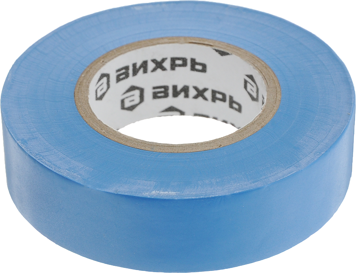 Лента изоляционная Вихрь, цвет: синий, 20 м х 19 мм73/3/3/4Изоляционная лента Вихрь - изолента профессионального уровня, изготовлена на основепленки из поливинилхлоридного изоляционного пластиката. Специальные добавки, используемыепри производстве данного материала, повышают эластичные свойства ленты, увеличивают еедолговечность и обеспечивают устойчивость к горению. Изолента Вихрь предназначена для проведениявсех видов электромонтажных работ:электрической изоляции проводников, сращивания и жгутирования, защиты от механическихповреждений, цветовой маркировки. Особенности: - выдерживает напряжение пробоя - 6000 В, - обладает высокими клеевыми свойствами, - эластичная и прочная, удлинение при разрыве - от 170 до 200%, - устойчива к ультрафиолетовым лучам, - не поддерживает горение, - диапазон рабочих температур - от -30°С до +70°С. Длина: 20 м. Ширина: 19 мм.