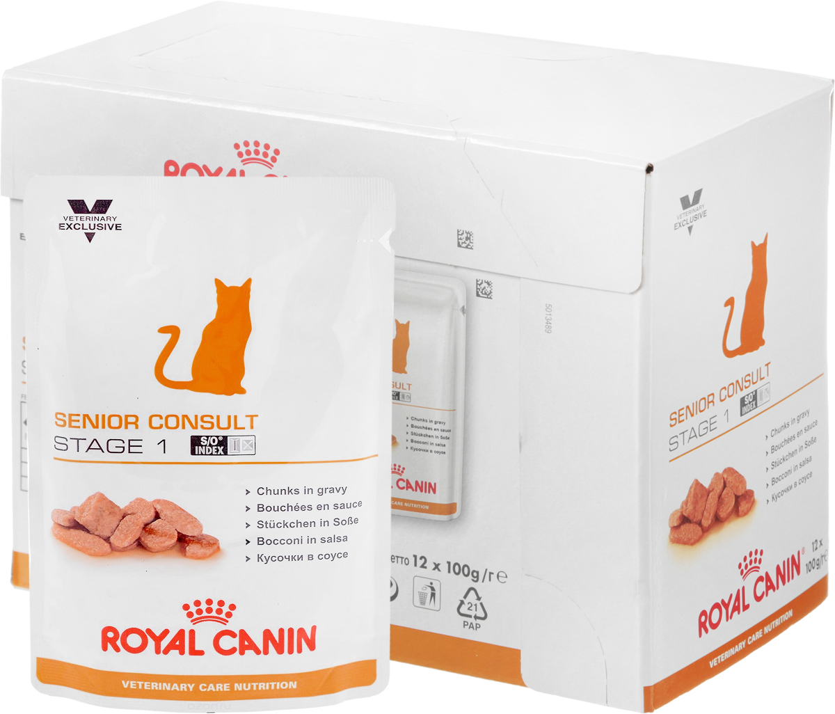 Консервы Royal Canin  Senior Consult Stage 1  для кошек старше 7 лет, 100 г, 12 шт - Корма и лакомства