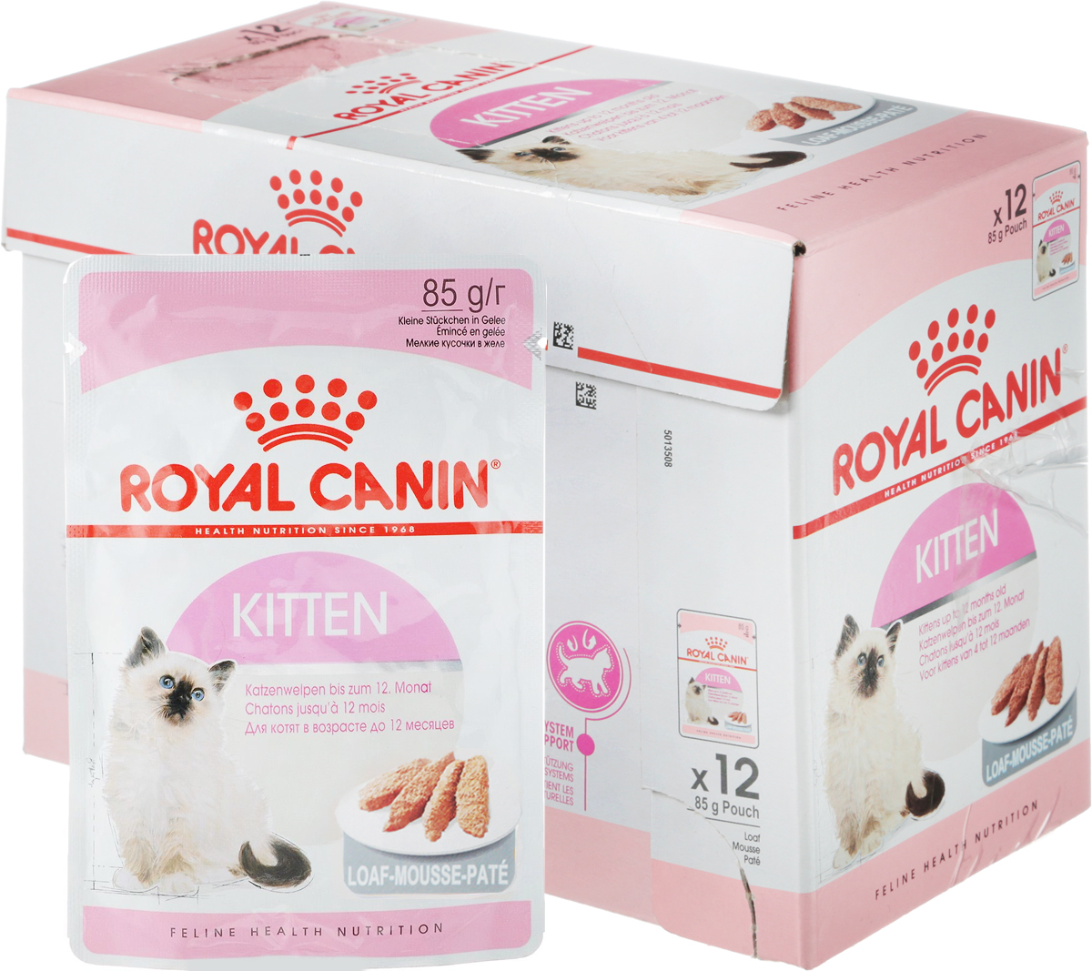 Фото - Консервы Royal Canin Kitten Instinctive, паштет для котят с 4 до 12 месяцев, 85 г, 12 шт royal canin royal canin cat ultra light 85 г х 12 шт