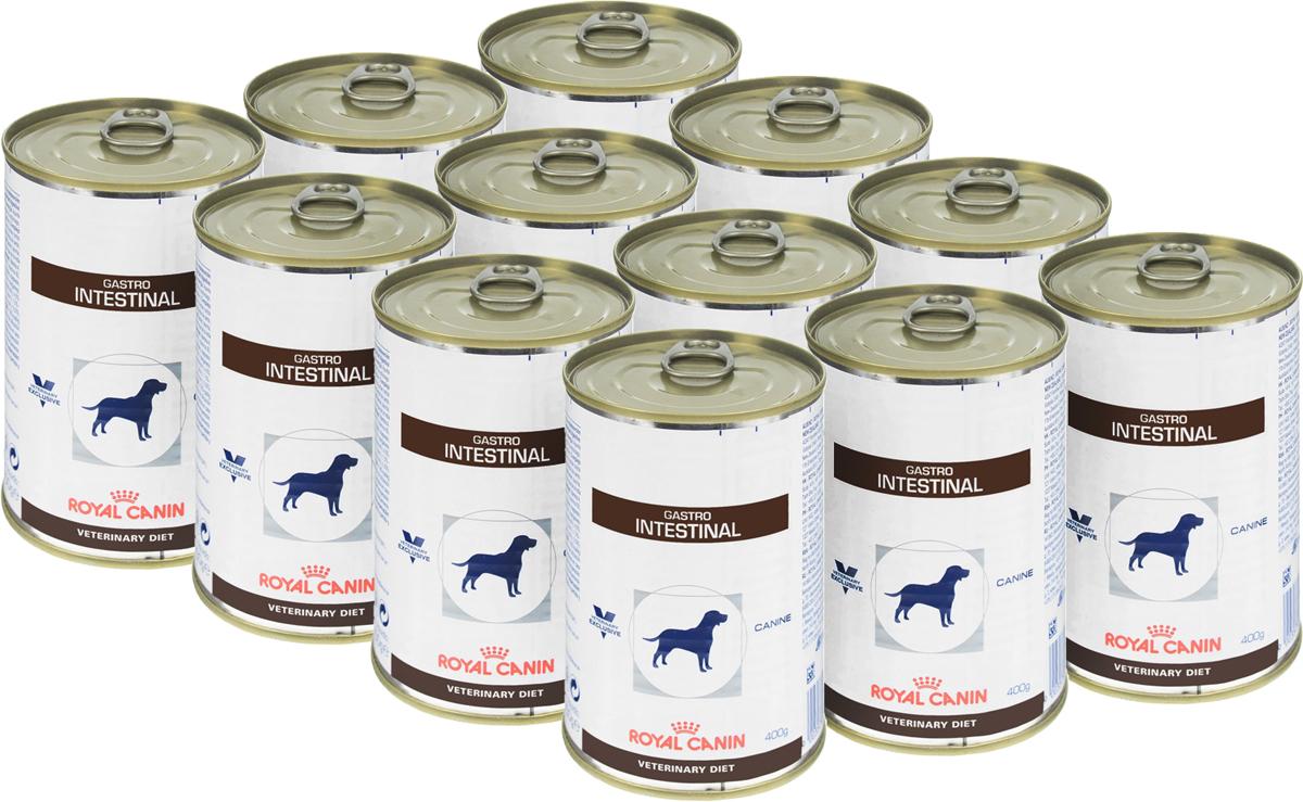 Консервы для собак Royal Canin Gastro Intestinal, при нарушениях пищеварения, 400 г, 12 шт24131Консервы Royal Canin GastroIntestinal - это полнорационный диетическийкорм для собак, рекомендуемый при острыхрасстройствах пищеварения, вреабилитационный период и при истощении.Показания к применению: - Острая и хроническая диарея. - Хроническое воспаление кишечника. - Плохая переваримость и абсорбцияпитательных веществ. - Восстановительный период после болезни.- Пролиферация бактерий в тонком кишечнике.- Экзокринная недостаточность поджелудочнойжелезы. - Колит. - Гастрит. - Анорексия. Сочетание высококачественных белков с высокойстепенью усвояемости, пребиотиков(маннановые олигосахариды), клетчатки ирыбьего жира обеспечивает максимальнуюбезопасность пищеварения. Повышенноесодержание энергии соответствуетэнергетическим потребностям собаки, позволяетограничить объем корма и снизить нагрузку нажелудочно-кишечный тракт, также помогаетвосстановить вес в период выздоровления.Эйкозапентаеновая и докозагексаеноваякислоты, длинноцепочечные жирные кислотыОмега 3 способствуют поддержанию здоровьяпищеварительной системы. Комплексантиоксидантов синергичного действияснижает уровень окислительного стресса иборется со свободными радикалами. Состав: свинина и мясо птицы, лосось, рис,растительная клетчатка, подсолнечное масло,минеральные вещества, желирующие вещества,таурин, рыбий жир, экстракт дрожжей (источникманнановых олигосахаридов), экстракт бархатцевпрямостоячих (источник лютеина),микроэлементы (в т. ч. в хелатной форме),витамины.Добавки на 1 кг: витамин D3 - 380 МЕ, железо - 7мг, йод - 0,35 мг, медь - 3 мг, марганец - 2 мг,цинк - 21 мг.Питательные вещества на 100 г: белки 8,5%,жиры 6,5%, углеводы 6,1%, клетчатка пищевая1,5%, влажность 75%, минеральные вещества2%. Энергетическая ценность на 1 кг: 1088 ккал. Вес: 400 г. Товар сертифицирован.Расстройства пищеварения у собак: кто виноват и что делать. Статья OZON Гид