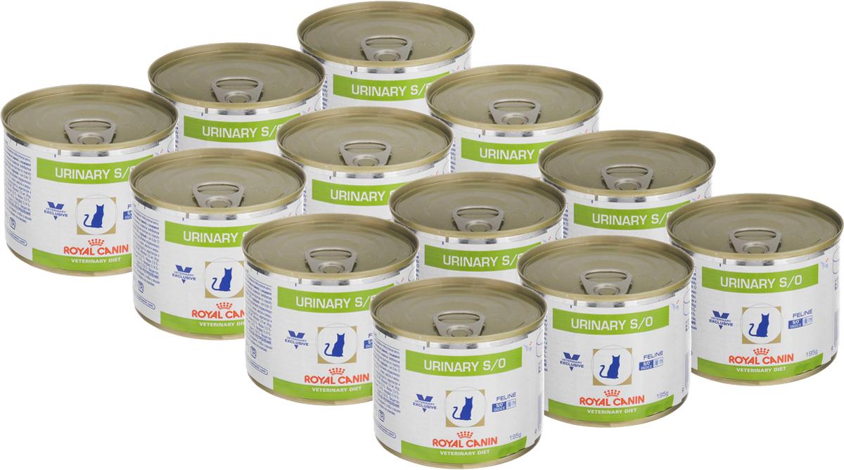 Консервы Royal Canin Urinary Feline S/O для кошек, при заболеваниях мочекаменной болезнью, 195 г, 12 шт54638Консервы Royal Canin Urinary Feline S/O предназначены для кошек с заболеваниями нижних мочевыводящих путей. Показания: - Растворение струвитов; - Профилактика рецидивов уролитиаза, вызываемого струвитами и оксалатами кальция. Примечание: - При повторяющемся идиопатическом цистите рекомендуется влажный диетический корм Urinary S/O Feline; - Перед назначением пожилым животным корма Urinary S/O Feline необходимо убедиться в нормальном функционировании их почек. Противопоказания: - Беременность, лактация, рост; - Хроническая почечная недостаточность; - Метаболический ацидоз; - Сердечная недостаточность; - Гипертония; - Применение лекарственных препаратов, которые используются для подкисления мочи. Длительность курса применения: Струвитные камни растворяются при применении специальной диеты в течение 5-12 недель. Для предупреждения рецидивов уролитиаза курслечения следует продолжать еще не менее 6 месяцев, при этом необходимо регулярное проведение анализов мочи. После выздоровлениярекомендуется использовать корма из гаммы Neutered. Особенности: - Низкий уровень RSS Ненасыщенная моча - неблагоприятная среда для кристаллизации и, следовательно, для образования струвитных и оксалатных камней. - Разбавление мочиПри применении Urinary S/O Feline объем мочи увеличивается, что позволяет предупредить образование кристаллов струвита и оксалатакальция. Таким образом, осуществляется профилактика двух основных видов уролитиаза. - Идиопатический циститВлажный корм содержит воду, благодаря чему моча кошки становится менее концентрированной. Около 64% всех случаев - идиопатическийцистит, при рецидиве которого предпочтительнее использовать влажный корм. - Растворение струвитовКорм Urinary S/O Feline эффективно растворяет струвиты. Состав: мясо птицы, свинина, печень птицы, кукурузная мука, яичный порошок, масло подсолнечника, целлюлоза, рыбий жир, минеральныевещества, таурин, гидр
